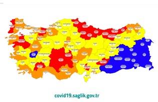 Bakan Koca paylaştı: İşte il il Türkiye'nin risk haritası